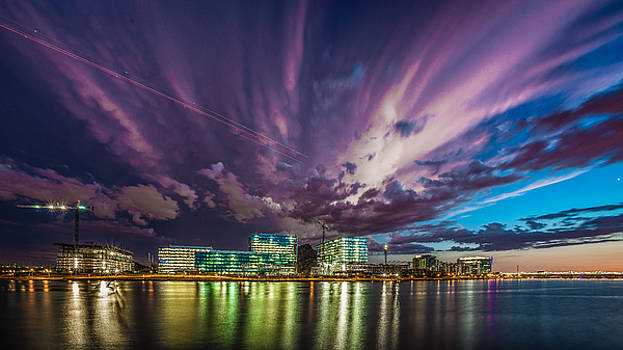 Storm over Tempe Town Lake by Mark Spomer