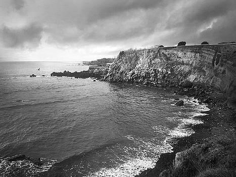 Storm Over the Eastern Shoreline of Angra do Heroismo Terceira by Kelly Hazel