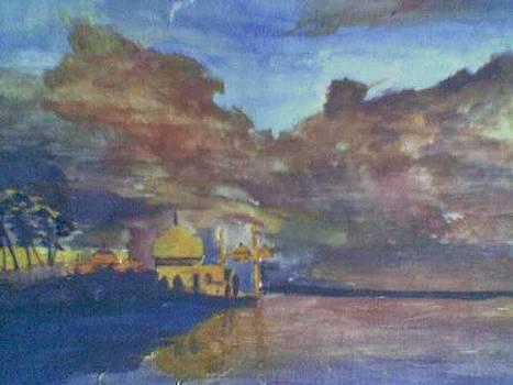 Storm Over The Taj Mahal by Lalhmunlien Varte