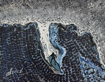 Storm Surfer original painting by Sol Luckman