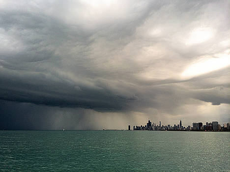 Storms over Chicago by Laura Kinker