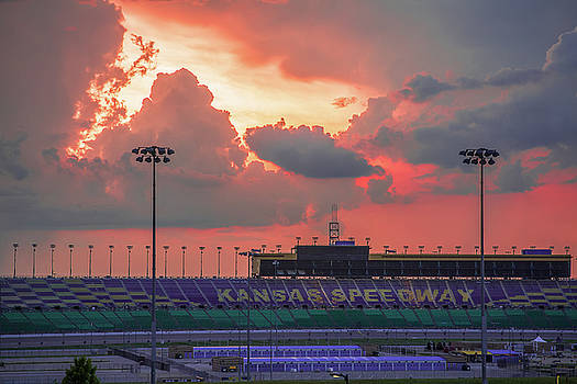 Storms Over Kansas Speedway by Steven Bateson
