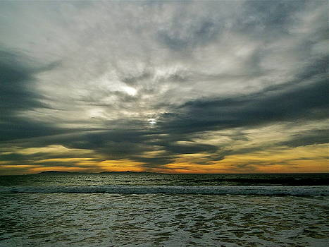 Stormy Beach Clouds by Liz Vernand