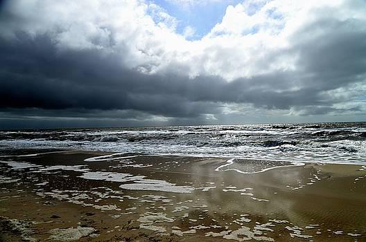 Stormy Beach by Sue Houston