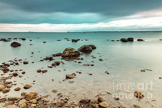 Stormy beach Sweden by Sophie McAulay