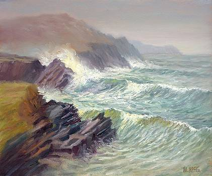 Stormy Day Clogher Strand by Michael McGuire