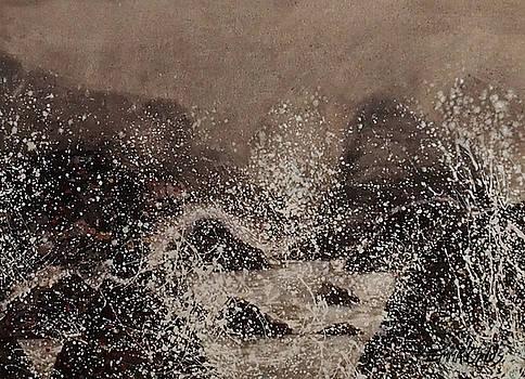 Stormy Devon Seas by Emma Childs