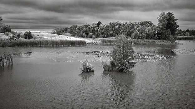 Stormy lake. Malyi Lystven, 2013. by Andriy Maykovskyi