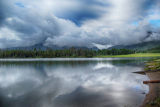 Stormy Morning over Frisco by Marie Leslie