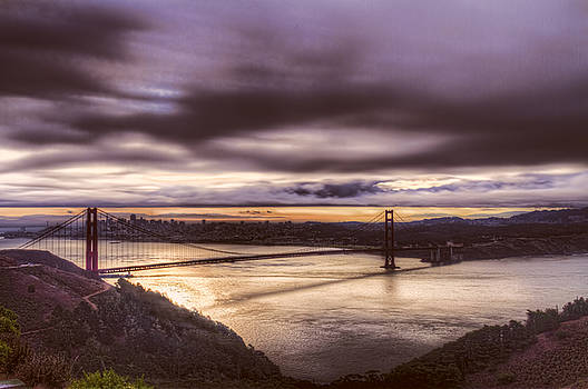 Bruce Bottomley - Stormy Morning SF Bay Bridge