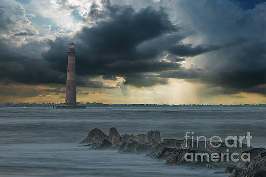 Stormy Morris Island by Dale Powell