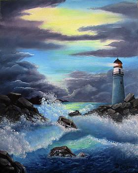 Stormy Ocean by Debra Dickson