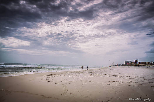 Stormy Panama City Beach by Debra Forand