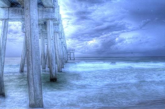 Stormy Pier by Larry Underwood