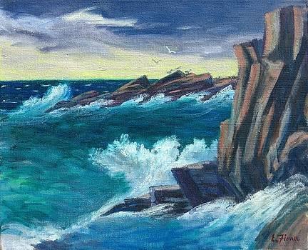 Stormy Sea Monhegan Island Maine by Ernest Fiene