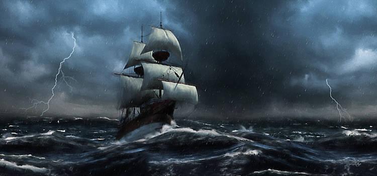 Stormy Seas - Nautical Art by Jordan Blackstone