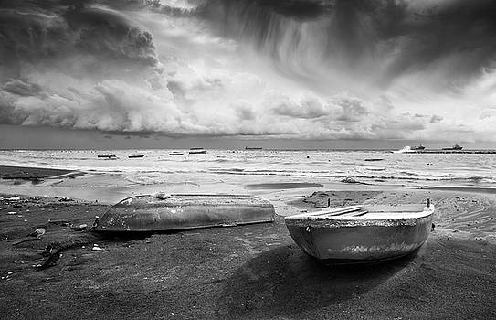 Stormy sky and sea. by Michalakis Ppalis