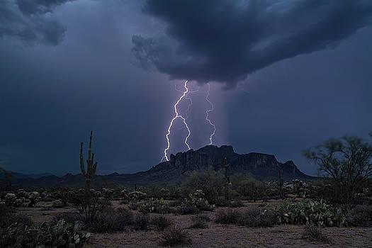 Stormy Sonoran Evening  by Saija Lehtonen
