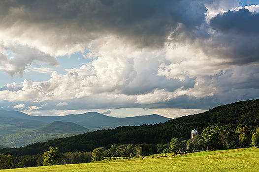 Stormy Summer Countryside by Alan L Graham