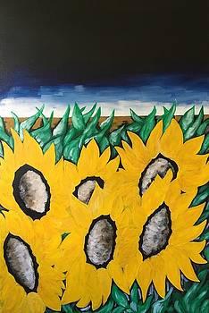 Stormy Sunflowers by Heidi Moss