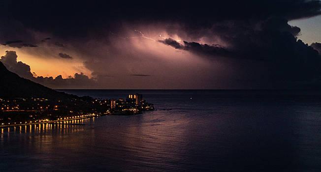 Stormy Sunrise at Waikiki by Joy McAdams