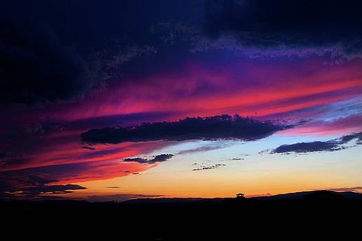 Stormy Sunset by David Hare