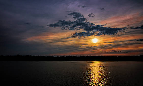 Stormy Sunset over Belleville Lake by Pat Cook