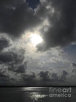 Stormy Sunset over St. Johns River by Mitzisan Art LLC