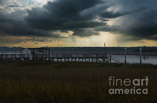 Stormy Wando River Sky by Dale Powell