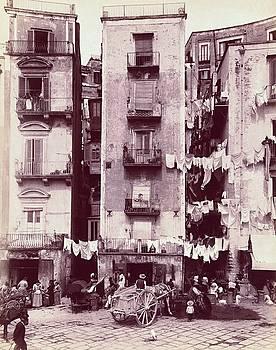 Strada di Santa Lucia, Napoli c. 1880 - 1895 by Vintage Printery