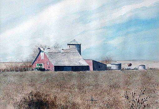 Strasburg Barn with John Deer  by Richard Hahn