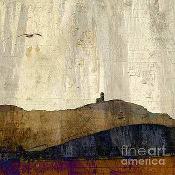 Strata with lighthouse and gull by LemonArt Photography