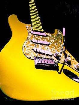 Stratocaster Pop Art Hot Yellow by Guitar Wacky