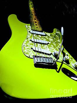 Stratocaster Pop Art Lime by Guitar Wacky