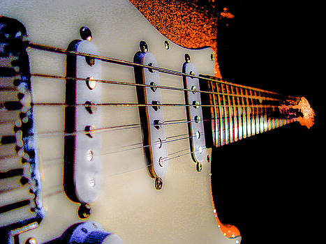 Stratocaster Pop Art Tangerine Sparkle Fire Neck Series by Guitar Wacky