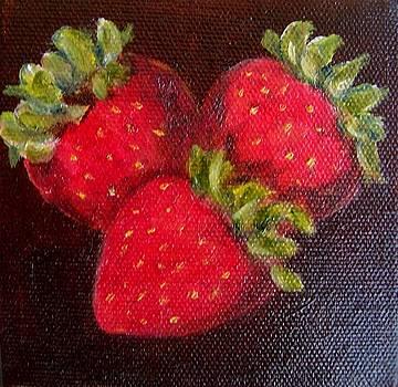 Strawberries 9 by Susan Dehlinger