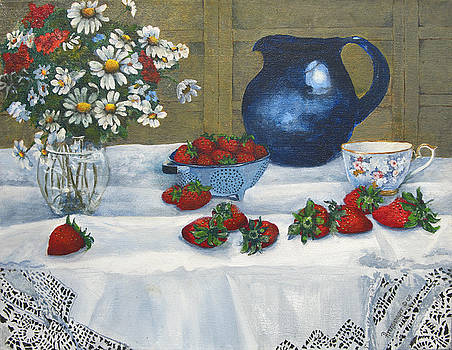 Strawberries and Cream by Ann Arensmeyer