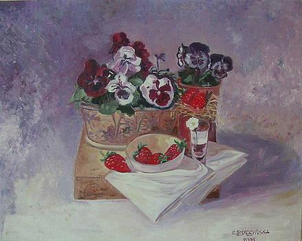 Strawberries by Ewa Smyczynska