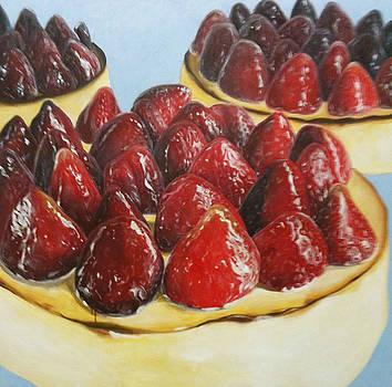 Strawberry Cheesecake by Michelle Fattibene