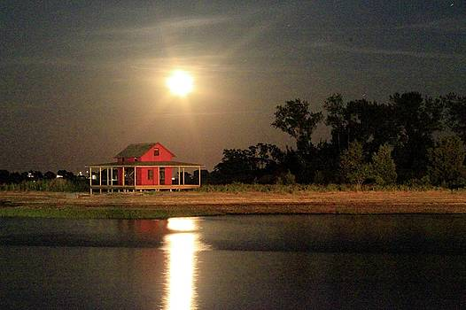 Strawberry Moon of Grass Island by Catie Canetti