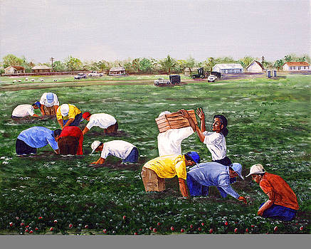 Strawberry Pickers II by Dorothy Riley