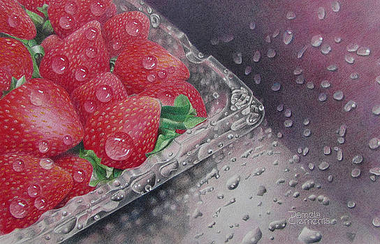 Strawberry Splash by Pamela Clements