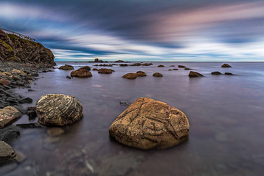 Streaking Clouds at Lobster Head Cove by Gord Follett