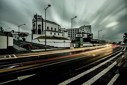 streaky clouds in Ponta Delgado by Sven Brogren