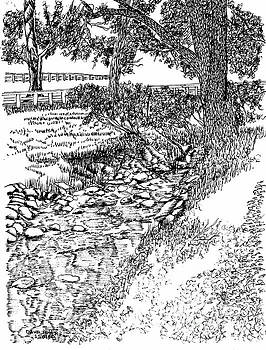 Stream Beside the Bookbinder's Shop by Dawn Boyer