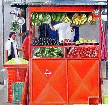 Street Apple Vendor by Suzahn King