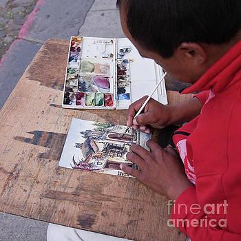 Tatiana Travelways - Street artist in Antigua, Guatemala