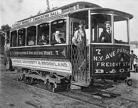 Street car, Washington, D.C., ca. 1890 by Vintage Printery