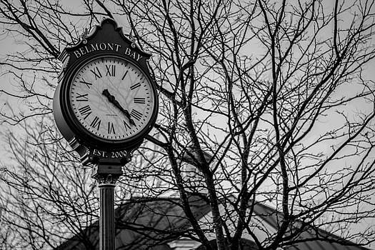 Street Clock in Black and White by Andrew King