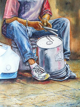Street Drummer by Don Whitson